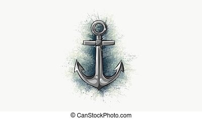 Anchor icon digital video animation