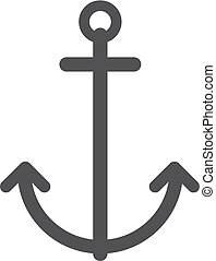 Anchor icon in black on a white background. Vector illustration