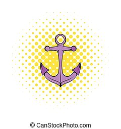 Anchor icon in comics style