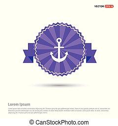 Anchor Icon - Purple Ribbon banner
