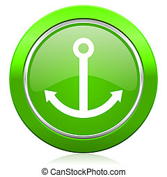 anchor icon sail sign