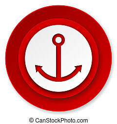 anchor icon, sail sign