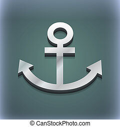 Anchor icon symbol. 3D style. Trendy, modern design with space for your text . Raster
