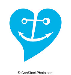 anchor in blue heart