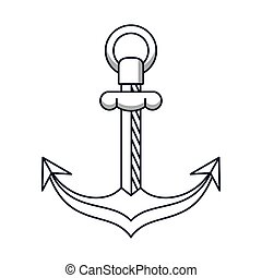 anchor maritime symbol isolated icon