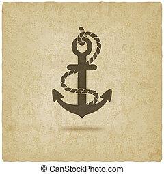 anchor old background - vector illustration. eps 10