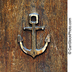 anchor old wooden