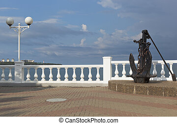 Anchor on promenade of resort Gelendzhik, Krasnodar Region