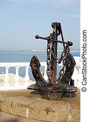 Anchor on the promenade of Gelendzhik