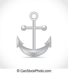 anchor on white background - illustration
