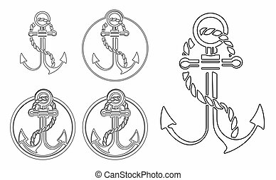 Anchor outline only