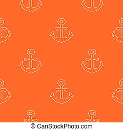 Anchor pattern vector orange