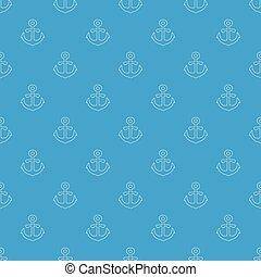 Anchor pattern vector seamless blue