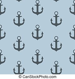 Anchor Seamless Pattern Background Vector Illustration