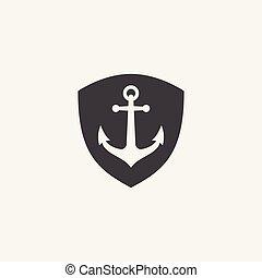 Anchor shield vector, Anchor vector icon