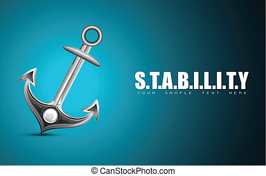 Anchor showing Stability - illustration of anchor on...