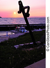 Anchor Sunset