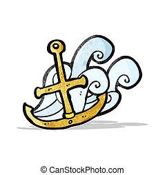 anchor symbol cartoon
