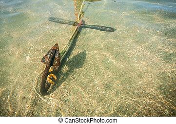 anchor under the sea