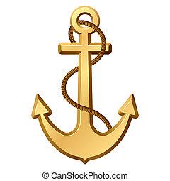 Anchor - The vector illustration of an anchor.