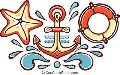Anchor. Vector illustration