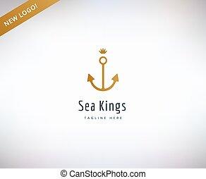 Anchor vector logo icon. Sea, vintage or sailor and sea...
