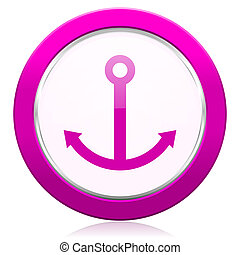 anchor violet icon sail sign