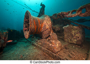 Anchor winch of the Thistlegorm.