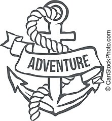 Anchor with Banner. Vector