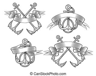 Anchor with ribbon set