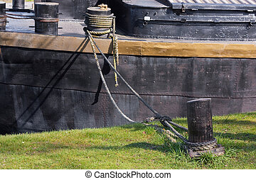 Anchored living boat (1)