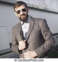 anchorman reporter newscaster