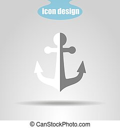 Anchors icon on a gray background. Vector illustration