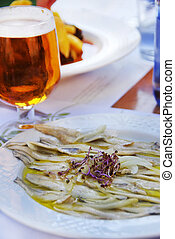 anchovies in vinegar and olive oil