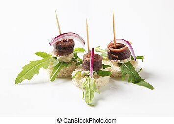 Anchovy canapes