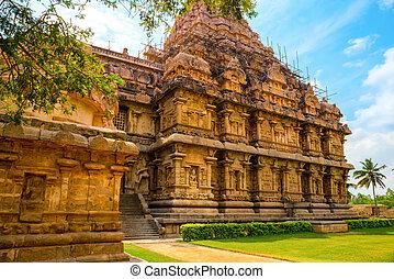 anci, gewidmet, hindu, shiva, architektur, tempel,...
