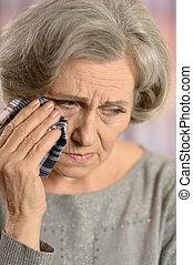 anciana, llanto