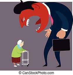 anciano, abuso