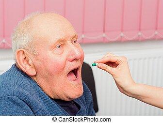 anciano, demencia
