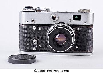 ancien appareil photo vieux fond isolement photo de stock rechercher images et clipart. Black Bedroom Furniture Sets. Home Design Ideas