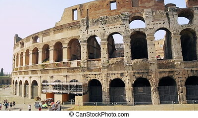 ancien, attraction touristes, attractions, italy., amphithéâtre, une, la plupart, rome., capital, populaire, italien