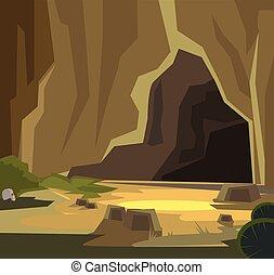 ancien, caverne