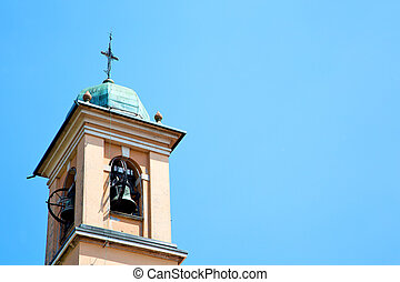 ancien clock in italy and bell - ancien clock tower in italy...