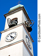 ancien clock tower in bell - ancien clock tower in italy...