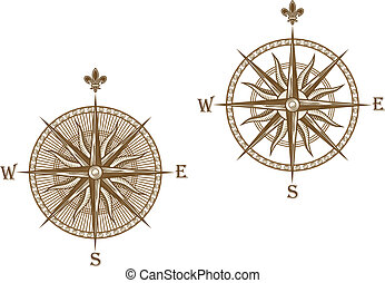 ancien, compas