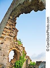 ancien, construction, ruines