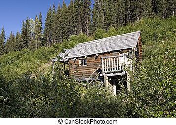 Rustique montagne cabane rondins chambre coucher for Log cabin montagne blu
