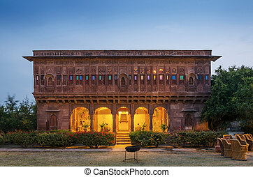 ancien, palais, dans, jodhpur, inde