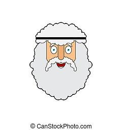 ancien, physicist., face., mathématicien, illustration, archimède, grec, vecteur