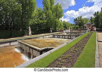 ancien, segovia, ville parc, espagnol